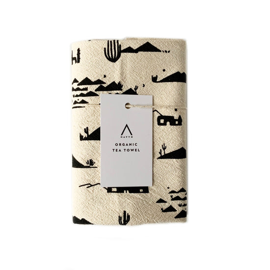 Organic Cotton Adobes and Mountains Tea Towel - Havyn