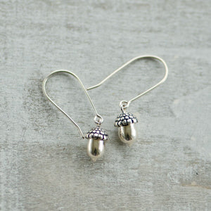 Tiny Acorn Earrings - Justine Brooks