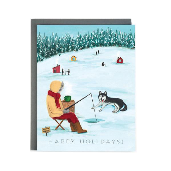 Ice Fishing Holiday Card - Made in BV