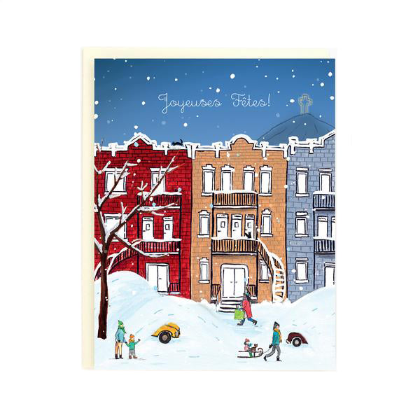 Snowy Night Montreal - Holiday Card - Made in BV