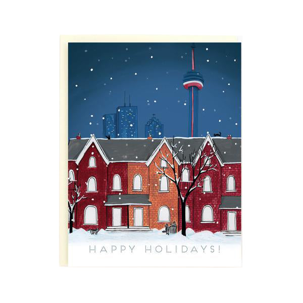 Snowy Night Toronto - Holiday Card - Made in BV