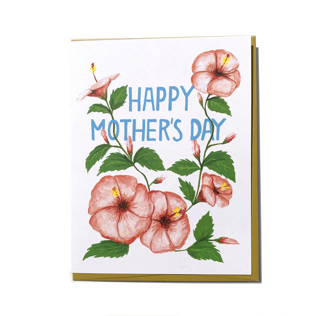 """Mom Hibiscus"" Mother's Day Card - Made in BV"