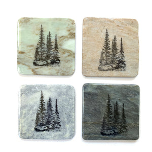 Granite Coasters - Three Pines - Madoc Rocks