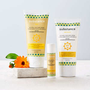 Made in Canada natural Sun Care Cream Sunscreen and Baby Sunstick by Matter Outdoors.