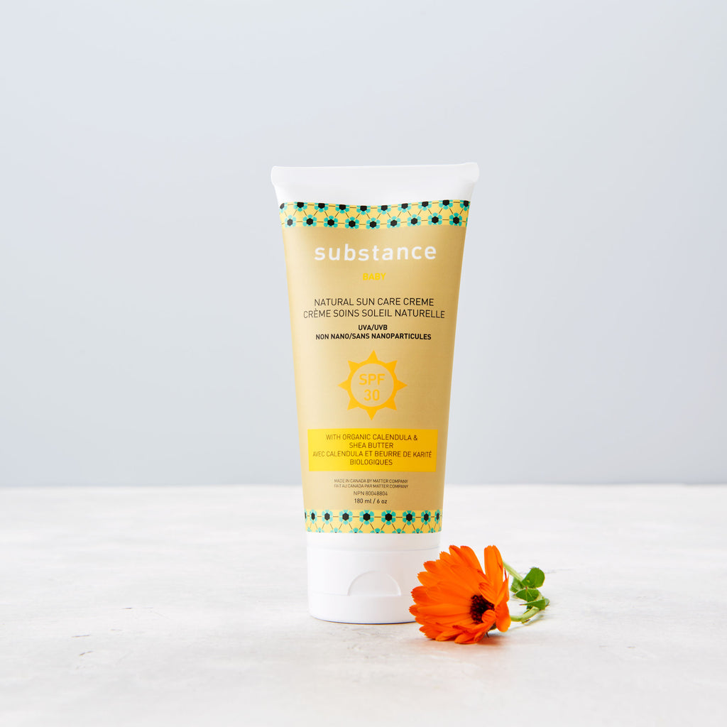 Made in Canada natural baby Sunscreen sun care cream for babies by Matter Outdoors.
