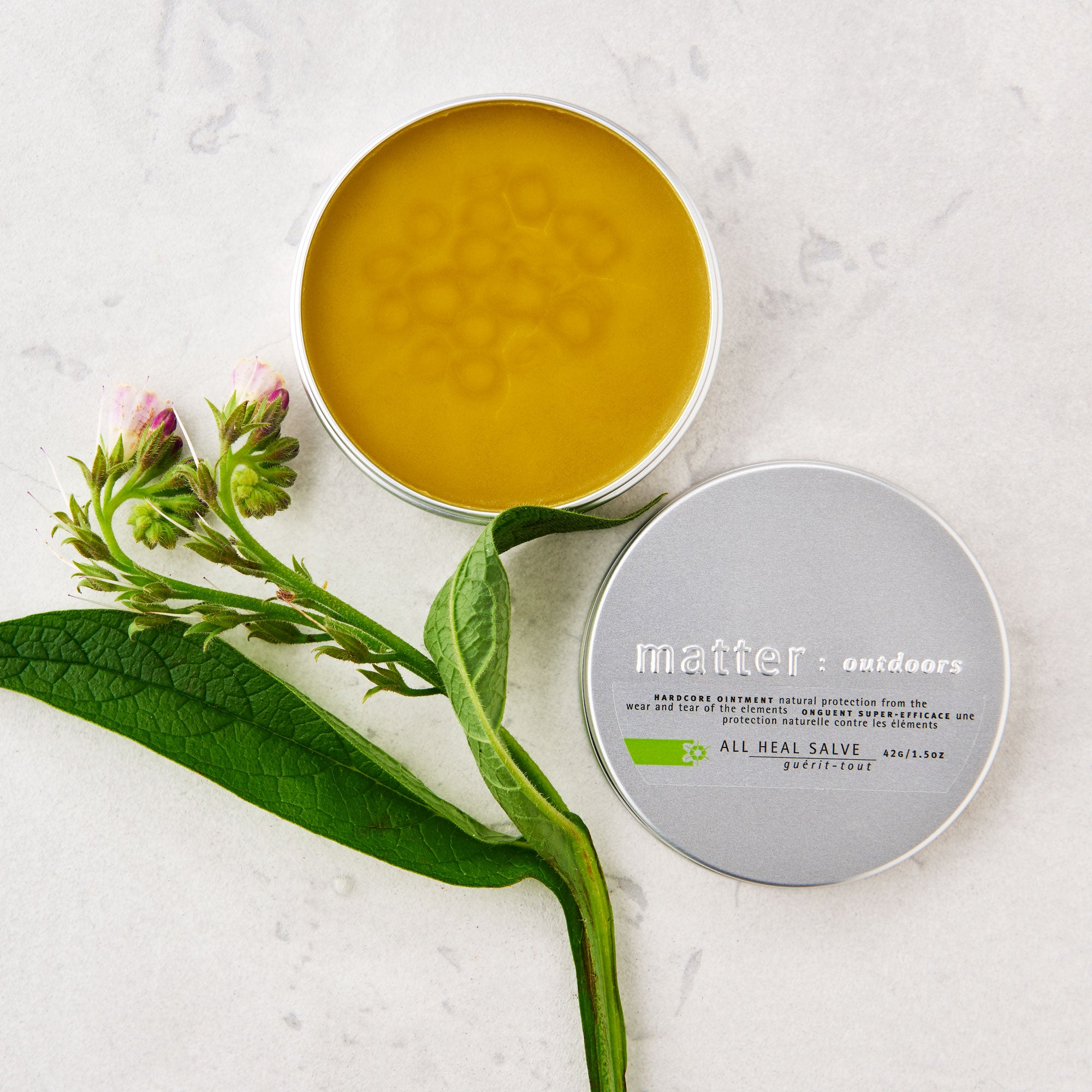 Made in Canada natural all heal salve.