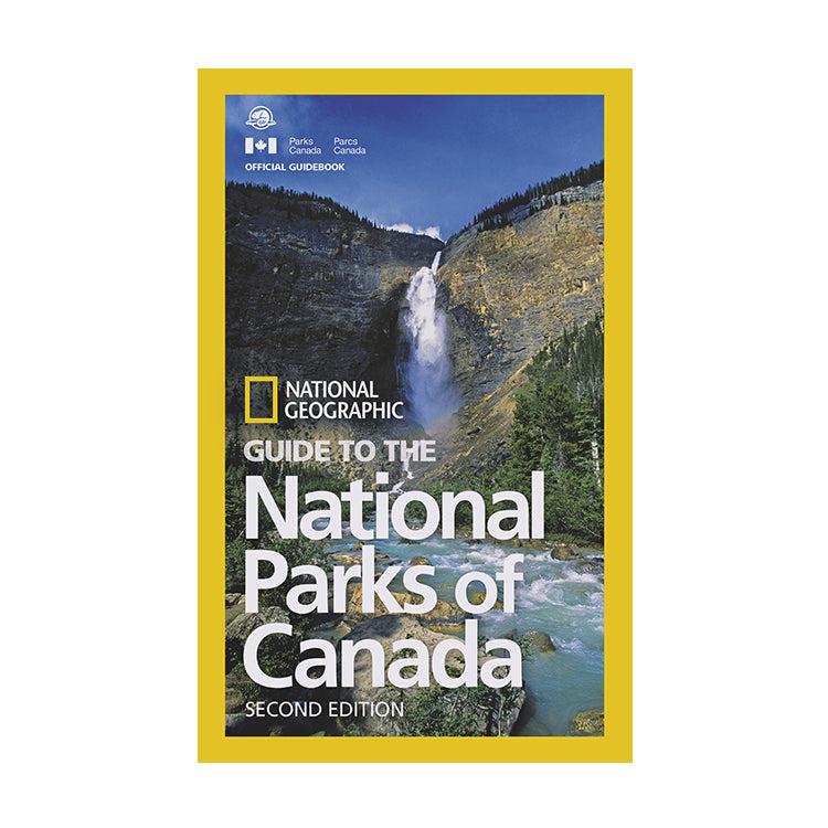 National Parks of Canada guidebook cover with photograph of a Canadian waterfall.