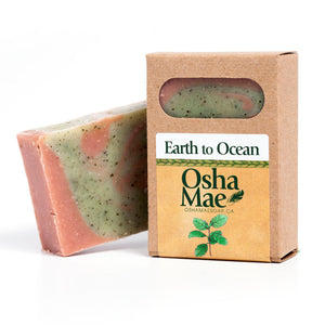 Made in Canada natural soap made with spearmint, seaweed and pink clay.