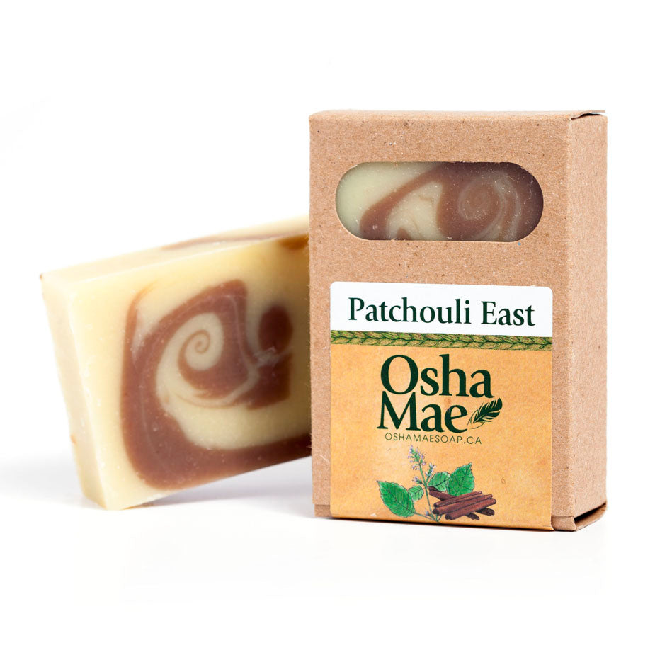 """Patchouli East"" Natural Soap Bar - Osha Mae Soap"