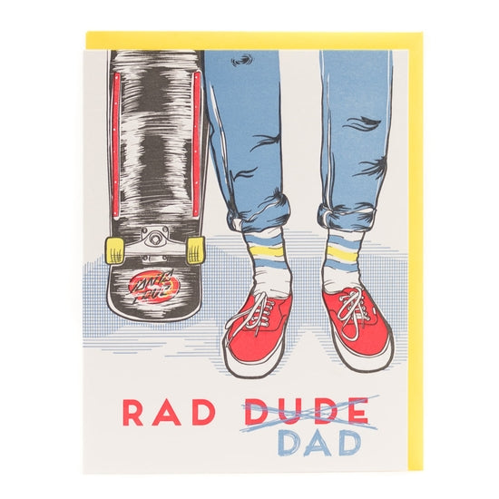 """Rad Dad Skater"" Father's Day Card - Porchlight Press"
