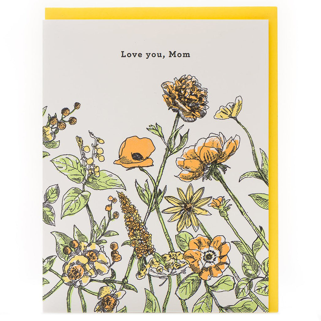 """Love You Mom Floral"" Mother's Day Card - Porchlight Press"