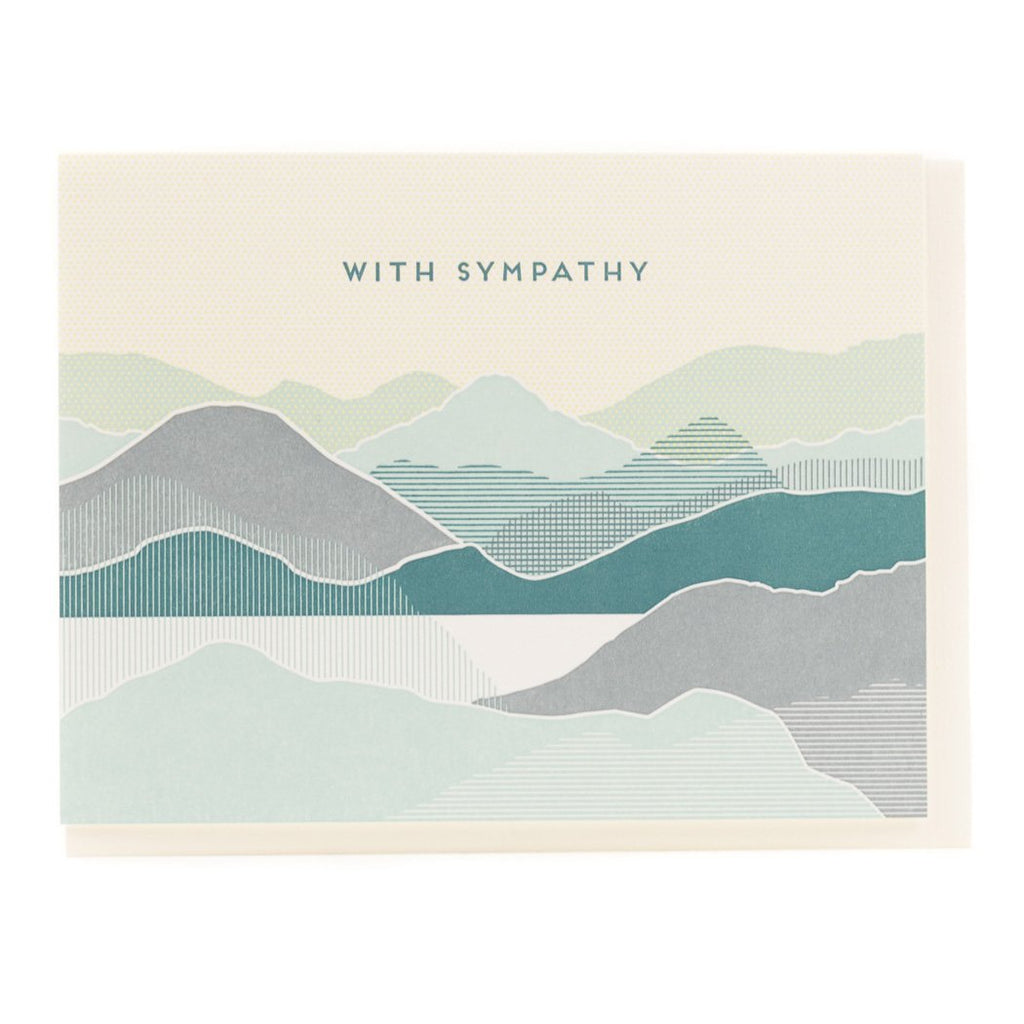 """Coastal"" Sympathy Card - Porchlight Press"