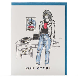 """You Rock Throwback"" Love & Friendship Card - Porchlight Press"