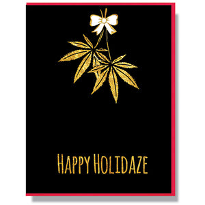 Happy Holidaze - Holiday Card - Smitten Kitten