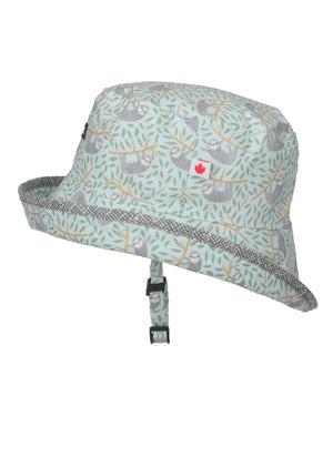 """Slothin Around"" 100% Cotton Baby Sun Hat"