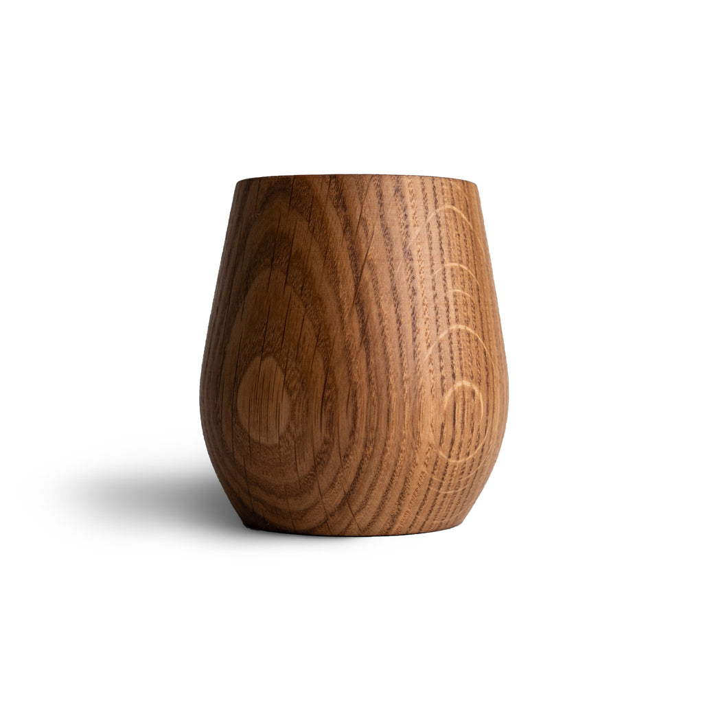 Made in Canada charred oak whisky tumbler by Stinson Studios.