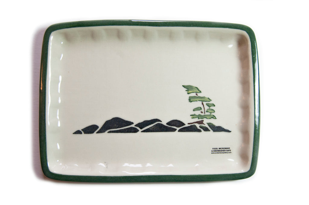 Windswept Pine Plate - Large - Susan Robertson Pottery