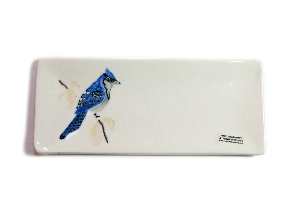 Blue Jay Plate - Small - Susan Robertson Pottery