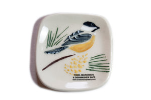 Chickadee Tea Bag Plate - Susan Robertson Pottery