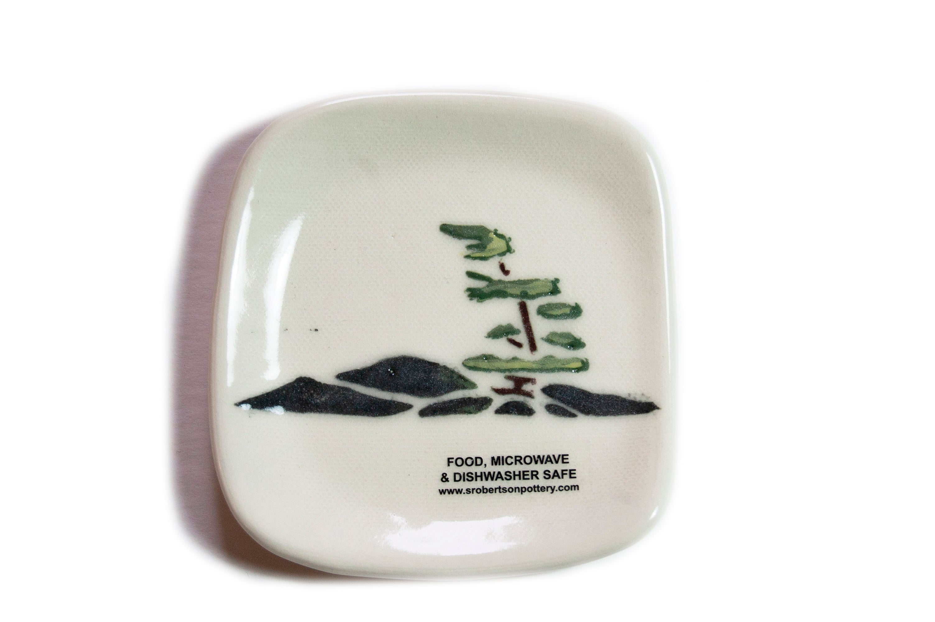 Windswept Pine Tea Bag Plate - Susan Robertson Pottery