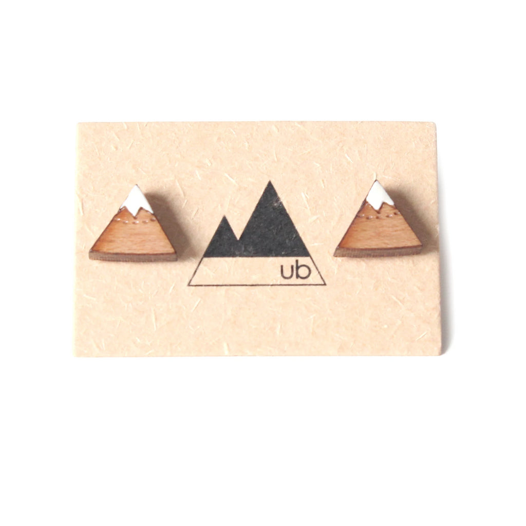 Mountain Stud Earrings - Ugly Bunny