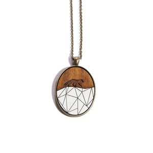 Fox Wood & Brass Necklace - Ugly Bunny