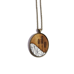 Sitka Tree Wood & Brass Necklace - Ugly Bunny