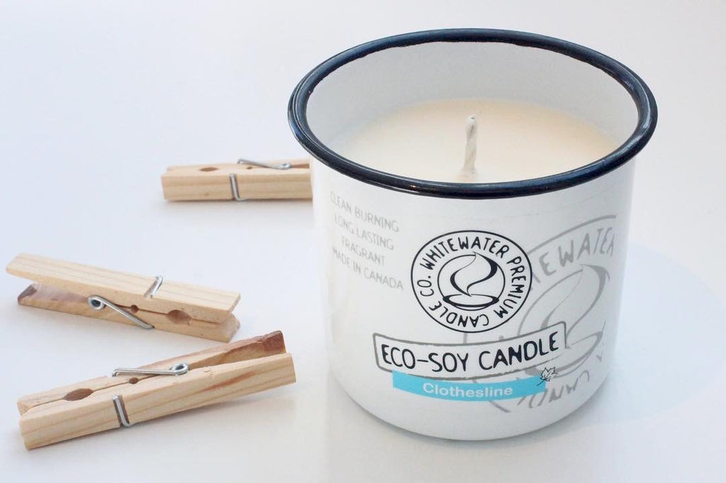 """Clothesline"" Eco-Soy Candle - Whitewater Candle Co."