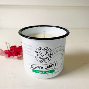Canadian made natural eco soy candle.