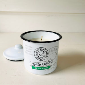 Canadian made natural eco soy candle with apple scent.