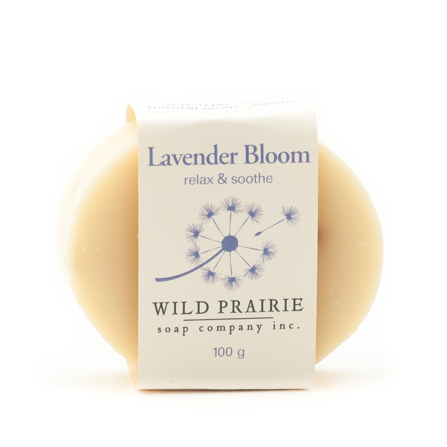 Made in Canada natural handmade Lavender soap.