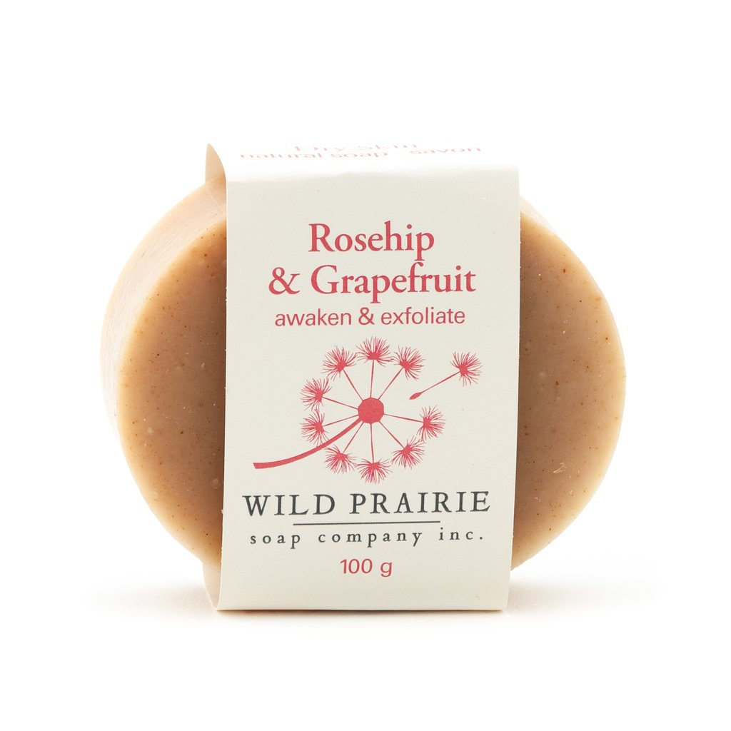 Made in Canada natural handmade soap with Rosehip and Grapefruit.