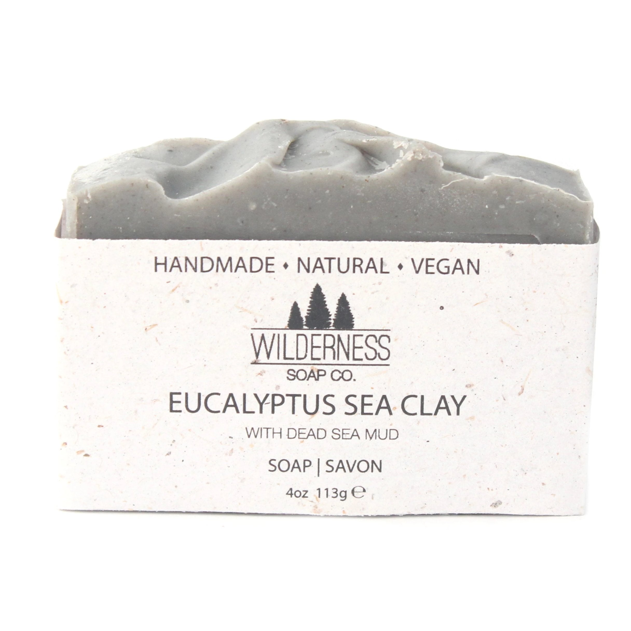 Canadian handmade natural vegan soap, made with eucalyptus and clay from the Dead Sea.