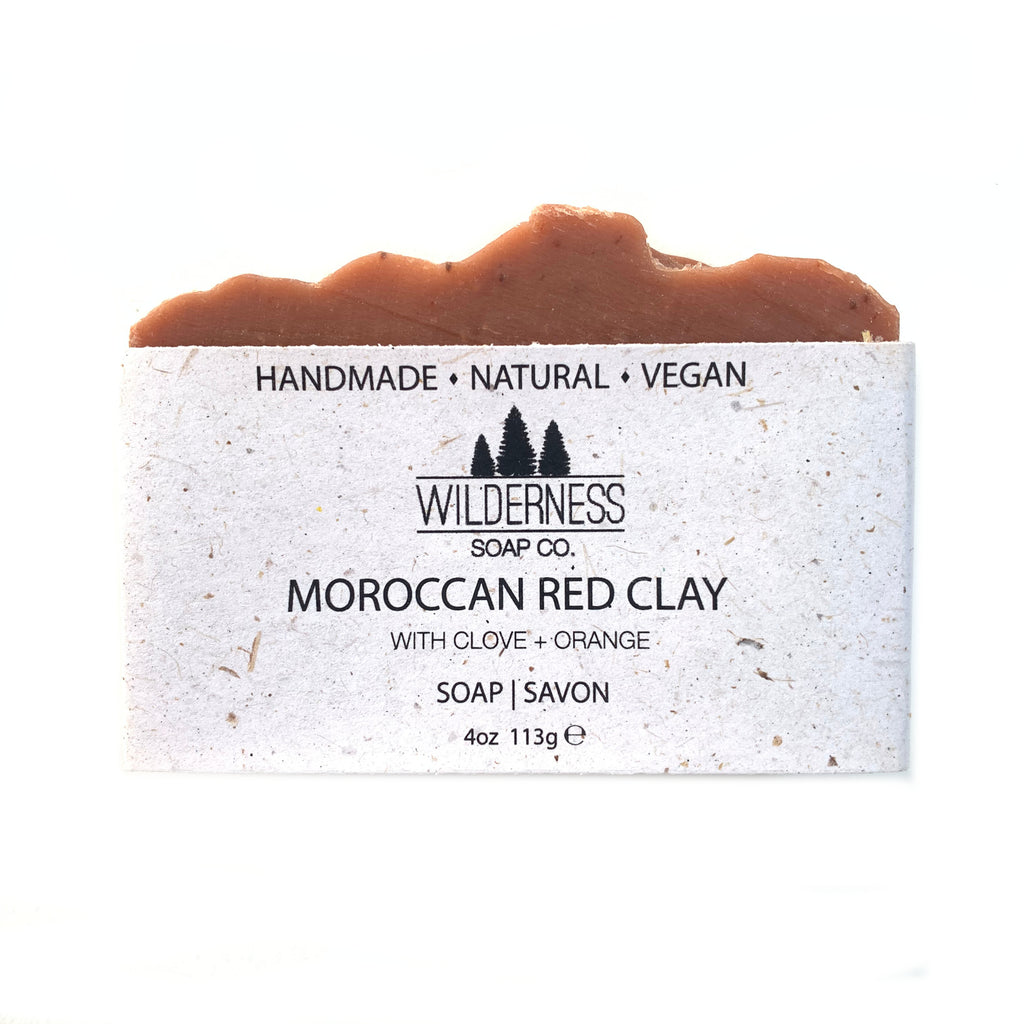 """Moroccan Red Clay"" Natural Soap Bar - Wilderness Soap Co."