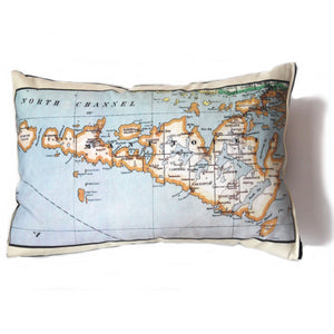 Manitoulin Island Map Pillow - Vintage Map Co.