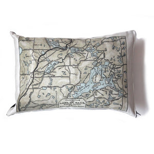 Lake of Bays Map Pillow - Vintage Map Co.