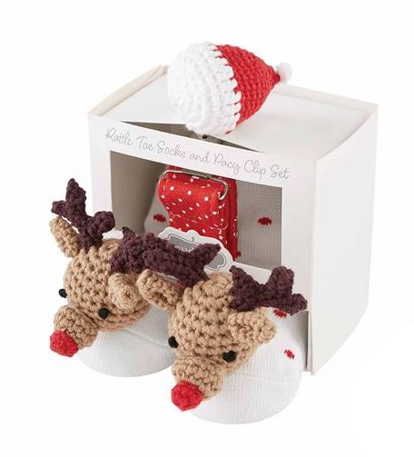 Reindeer Pacy and Sock Set