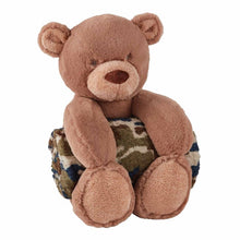 Load image into Gallery viewer, Camo Bear Plush with Blanket