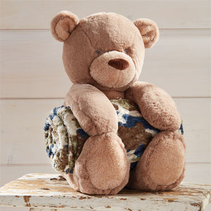 Camo Bear Plush with Blanket
