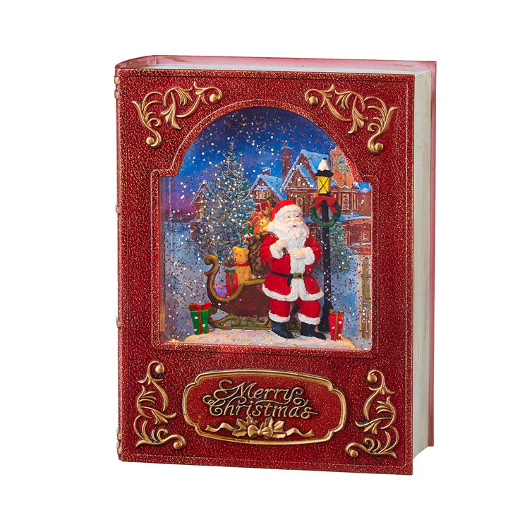Santa Lighted Water Book