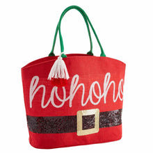 "Load image into Gallery viewer, ""Santa"" Holiday Dazzle Tote"
