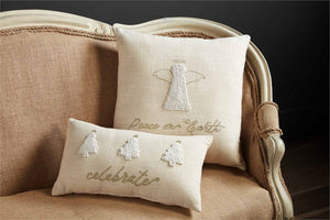 French Knot Angel Pillow