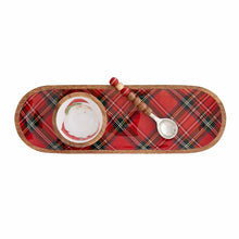 Load image into Gallery viewer, Santa Tartan Dip Cup & Tray Serving Set