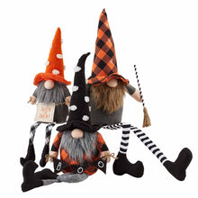 Load image into Gallery viewer, Large Dangle Leg Halloween Gnome