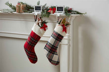 Load image into Gallery viewer, Sherpa & Red Tartan Stocking