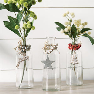 Holiday Bud Vases with Beads
