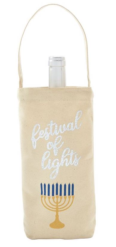 Festival of Lights Hanukkah Wine Bag