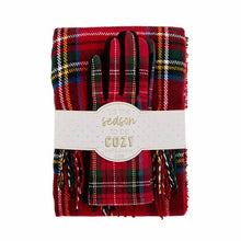 Load image into Gallery viewer, Holiday Scarf and Gloves Set - Red