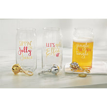 "Load image into Gallery viewer, ""Jingle 'til You Tingle"" Beer Glass and Opener Set"