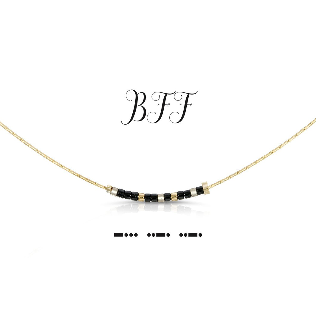 Morse Code Necklace - BFF